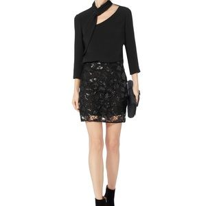 $315 NWT Iro Juva Black sequin mini skirt sz 34 XS